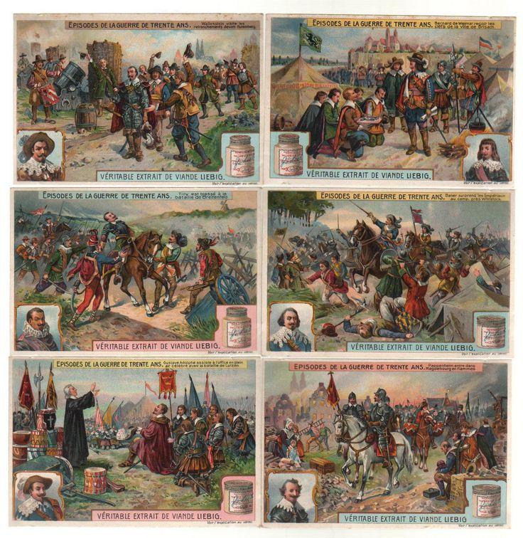 30 Jähriger Krieg 30 years war Lithographie lithograph Liebig | eBay