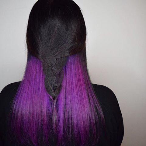 ✨ UNDER•LIGHTS ✨ peek-a-boo fantasy color. Loving it. #underlights #purple #pinkhair #purplehair #galaxyhair #manicpanic #manicpanicnyc #braids #imallaboutdahair #hairgramofficial #modernsalon #immortalbeloveddc #elevatedhair #vivids #fantasyhair #mermaidhair #mermacornhair #unicornhair #dyeddollies #jcarcolor #dmv #dccolorist #dcsalon #peekaboohighlights