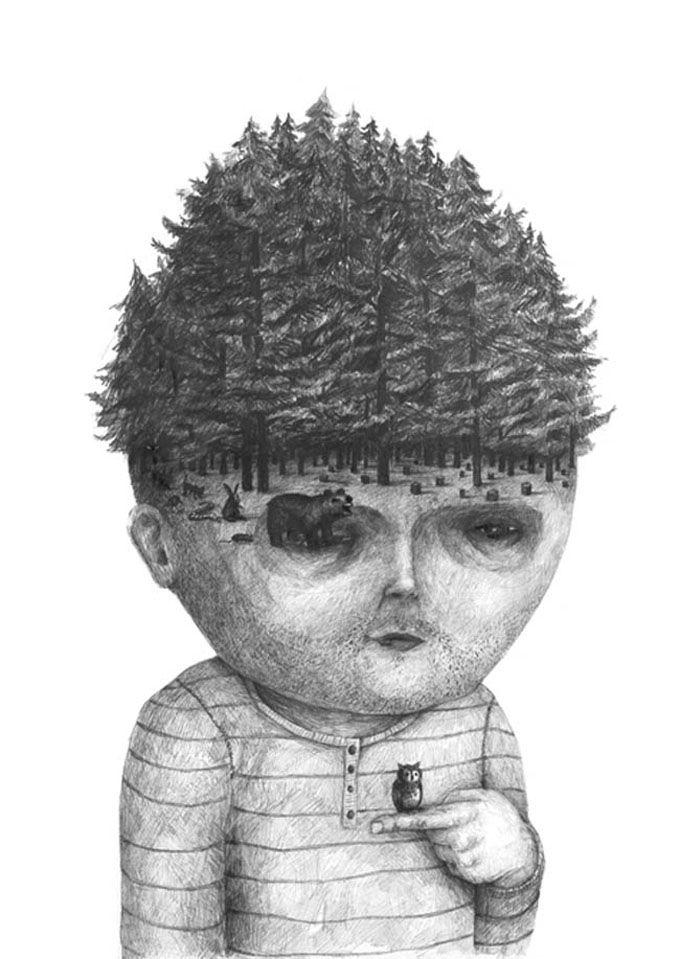 As ilustrações surreais de Stefan Zsaitsits