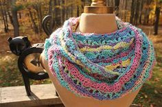 Pattern as shown was crocheted with 1 skein of Red Heart Boutique Unforgettable in Candied with an H crochet hook.