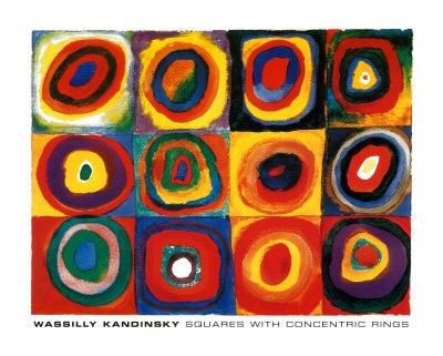 groot schilderij met cirkels