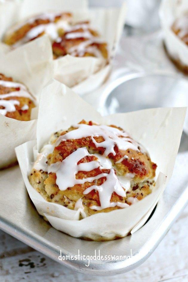 Lemon Chia And Ricotta Muffins With Lemon Glaze