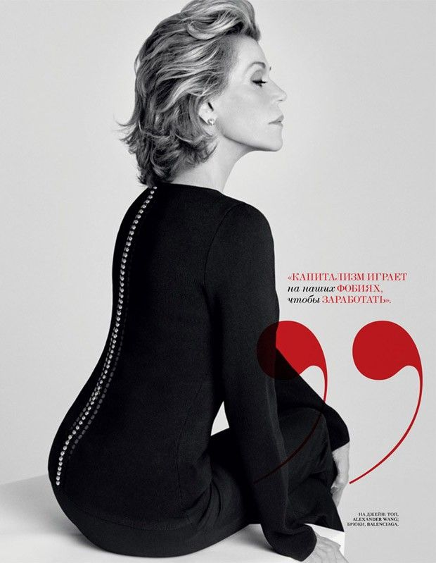 #JaneFonda for #InterviewRussia by #ChadPitman, October 2015 ~ ♔ Timeless Style ♔