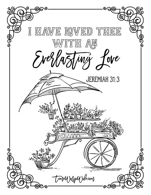 FREE PRINTABLE Christian coloring sheets with Bible verses. A new coloring sheet is posted every Friday. A great stress reliever and they look so pretty framed, from @timewarpwife