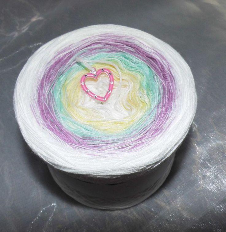 Farbverlaufsgarn 200g 4 fädig, 4 Farben Lacegarn designergarn Farbverlauf in Möbel & Wohnen, Hobby & Künstlerbedarf, Garne & Strickwolle | eBay
