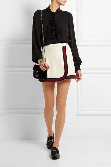 Gucci   Mini-jupe en jersey à bordures rayées   NET-A-PORTER.COM