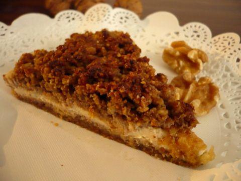 Ořechový koláč bez mouky. Základem jsou pekanové ořechy+krém z mascarpone = luxusní záležitost