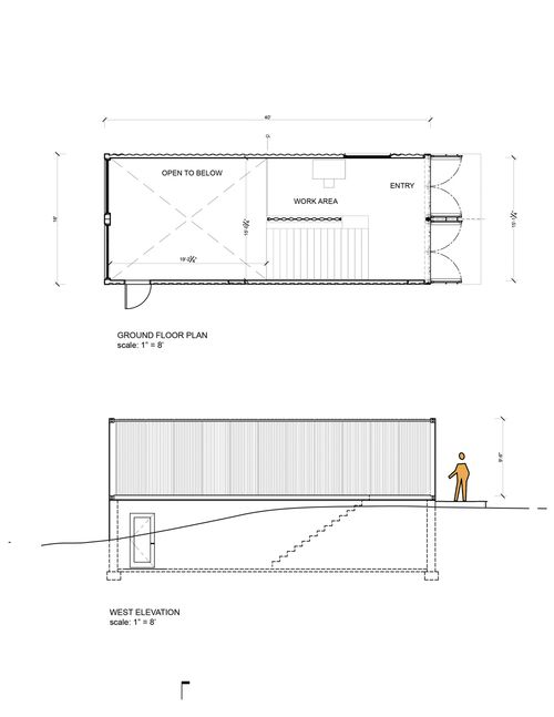 MB Arch_Container Studio_Upper level plan & side elevation.jpg