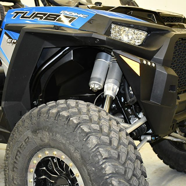 Here is the suspension swap on this 2018 RZR XP Turbo 4