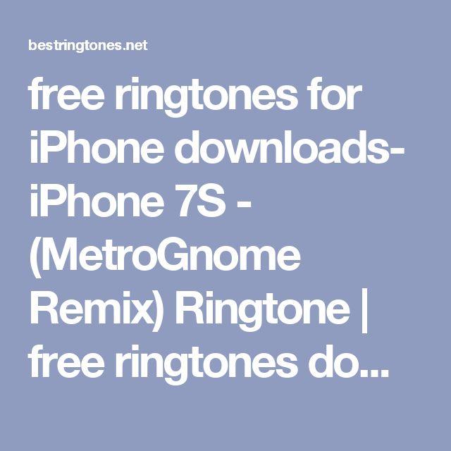 Iphone S Metrognome Remix Ringtone Download Free