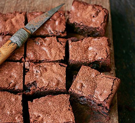 These American traybake brownies include all of our favourite things, chocolate, booze and bacon - pure decadence