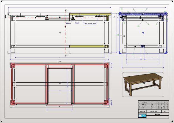 R alisation de d 39 un dessin technique pour la fabrication d for Technique pour vieillir un meuble