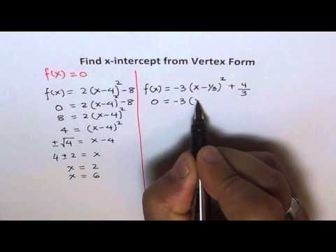 how to find x intercept of cubic