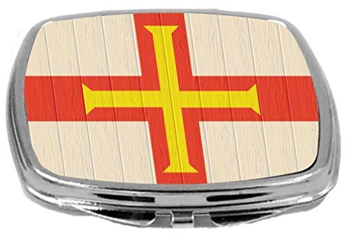 $ 17.95 Rikki Knight Compact Mirror on Distressed Wood Design Guernsey Flag 3 Ounce -- Find out more about the great product at the image link.