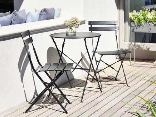 Utroligt Cafesæt HAFJELL Ø60 sort | JYSK | Altan | Outdoor furniture sets PH28