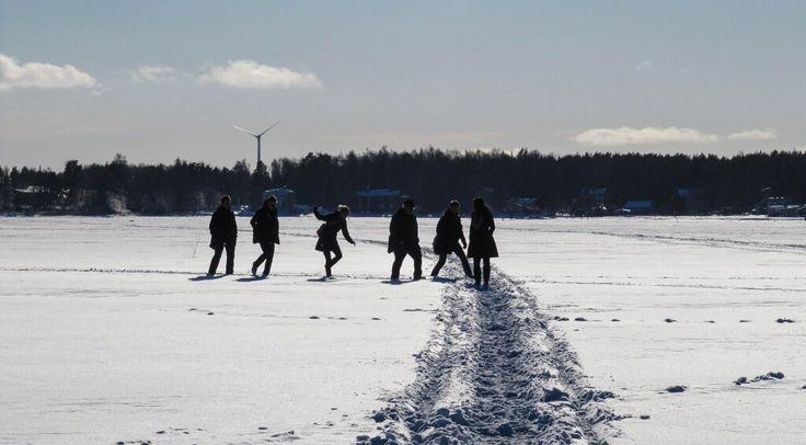 """""""Matkalla kampukselle talvisaikaan"""", photographer: Krista Kierikka"""