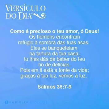 Salmos 36:7-9