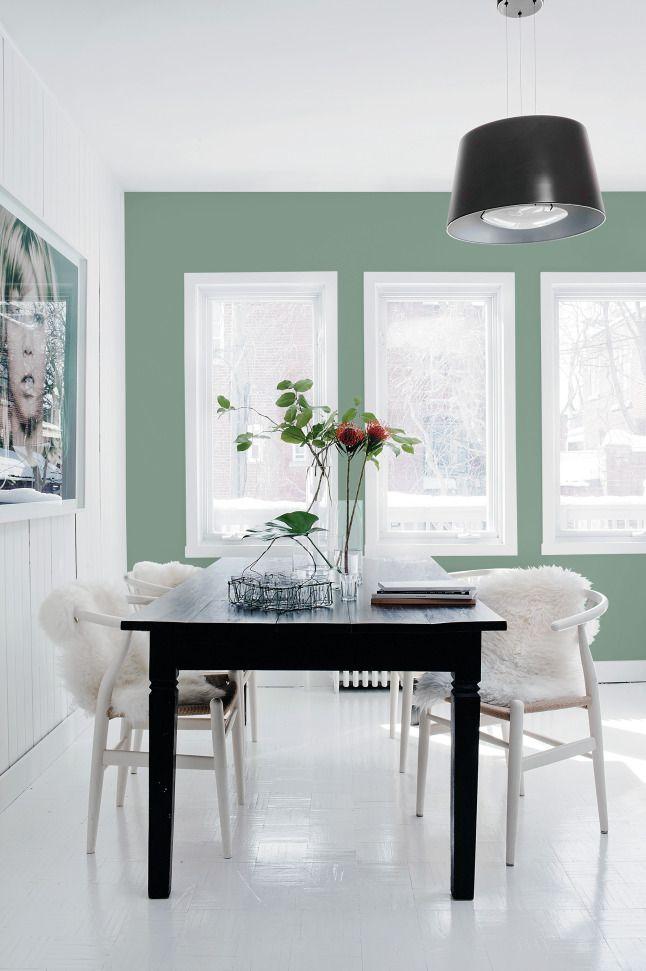 """Deze achterwand van de keuken is geverfd met Sigma kleur """"Paradise Found"""" #trendkleur2016 #coloroftheyear2016 #wonen"""