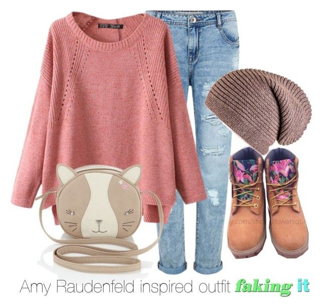 """""""Amy Raudenfeld inspired outfit/Faking It"""" by tvdsarahmichele ❤ liked on Polyvore featuring Chicnova Fashion, Timberland and Monsoon"""