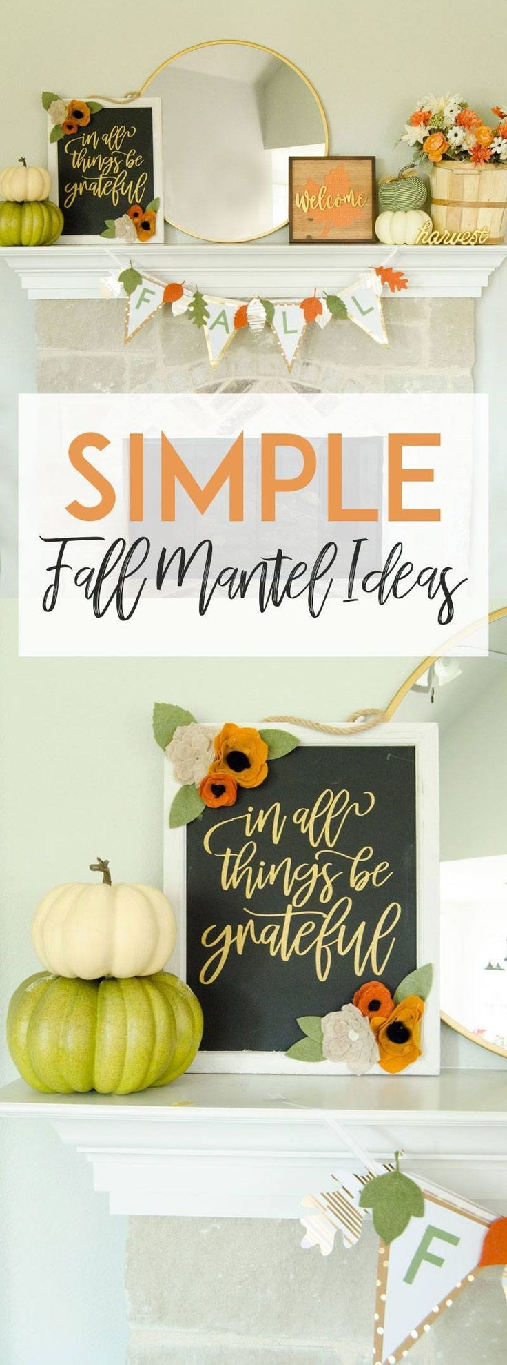 Simple Fall Mantel Ideas with Michaels by