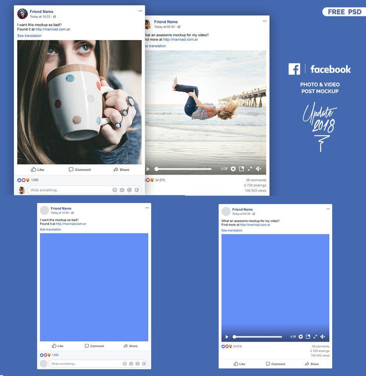Free Psd Facebook Post Mockup Facebook Post Mockup Facebook Mockup Mockup