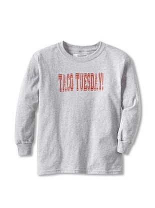 67% OFF Little Dilascia Kid's Taco Tuesday Long Sleeve Tee (Grey)