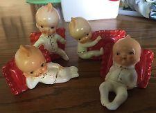 Vintage Ucagco Kewpie baby Pillow set 4 Japan nap Adorable