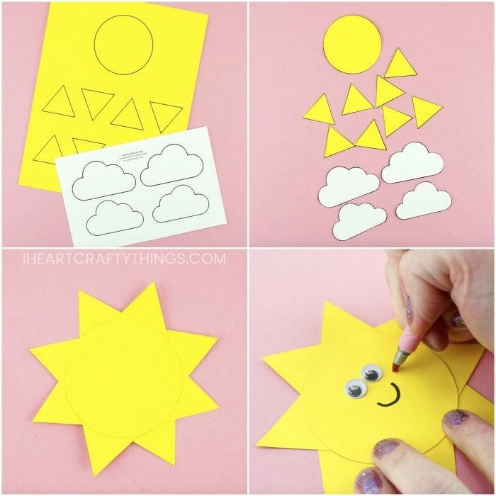 You Are My Sunshine Card Easy Pop Up Sun Card Template Sunshine Crafts Happy Mother S Day Card Cards