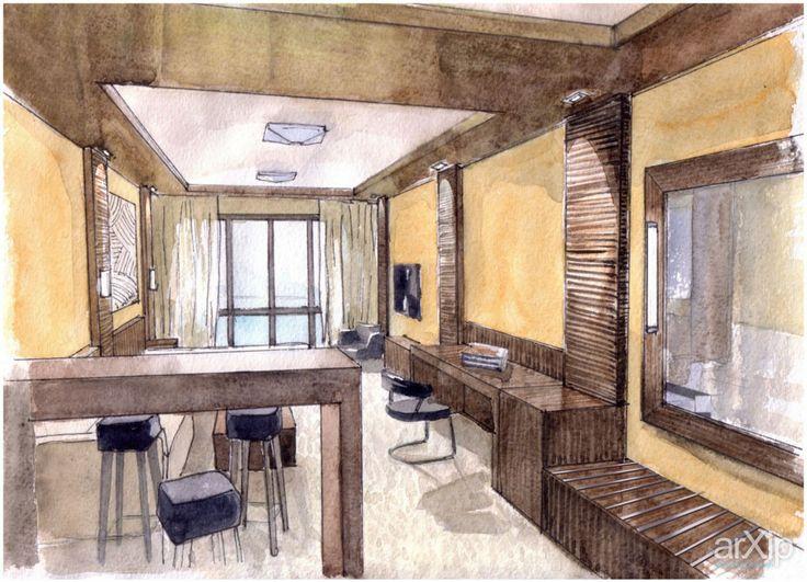 Гостиничные номера: интерьер, гостиная, эклектика, гостиница, мотель, 30 - 50 м2 #interiordesign #livingroom #lounge #drawingroom #parlor #salon #keepingroom #sittingroom #receptionroom #parlour #eclectic #hotel #motel #30_50m2 arXip.com