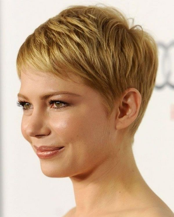 Short Pixie Haircuts For 2021 In 2020 Very Short Hair Short Hair Styles For Round Faces Short Hair Styles