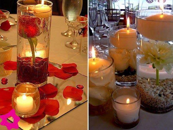Como hacer centros de mesa con velas flotantescentros de for Decoracion del hogar con velas