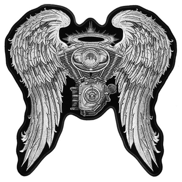 Hot Leathers 10 inch Patch - Asphalt Angel Lady Biker | CruiserCustomizing