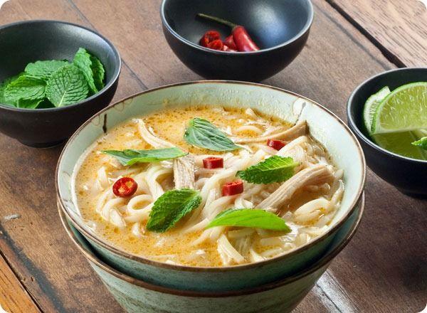 Vietnamese Spicy Chicken Noodle Soup