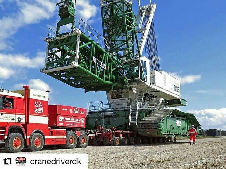 Liebherr crane on the move