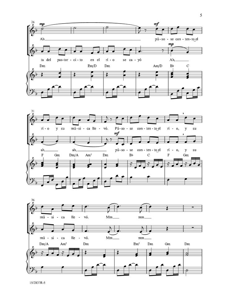 El Rio (SA) by Diana V. Saez  J.W. Pepper Sheet Music