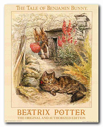 This poster will bring charming glance to any place. This beautiful poster captures the image of Peter & Benjamin try to hide them in fear of cat while carrying a large sack. This would make a lovely baby shower gift or for your own little Beatrix Potter Lover's bedroom. This poster delivers a sharp vivid image with a high degree of color accuracy which ensures long lasting beauty of the product. Order today and enjoy your surroundings.
