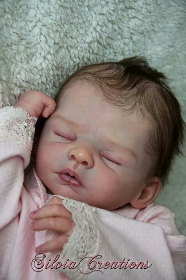 Cute Reborn Baby Doll Soft Silicone 18 Inch Handmade Baby: Sweet Baby Girl Joel Reborned By Silvia Ezquerra ♥