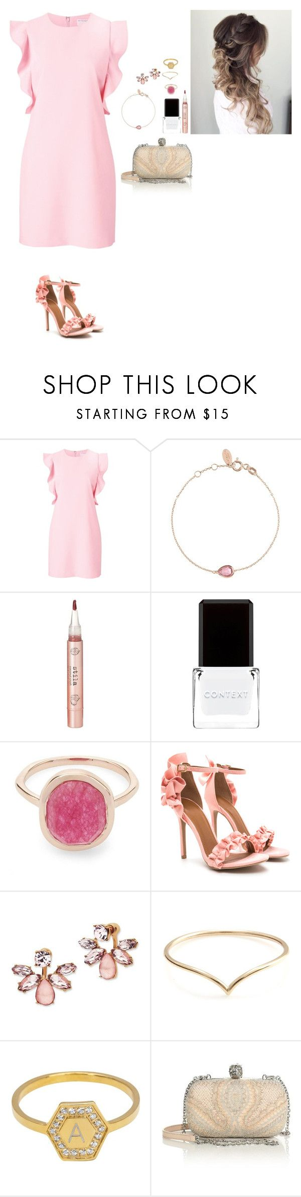 """""""Untitled #1418"""" by lexiaf on Polyvore featuring Witchery, Stila, Context, Liberty, Marchesa, Lola James Jewelry and Alexander McQueen"""