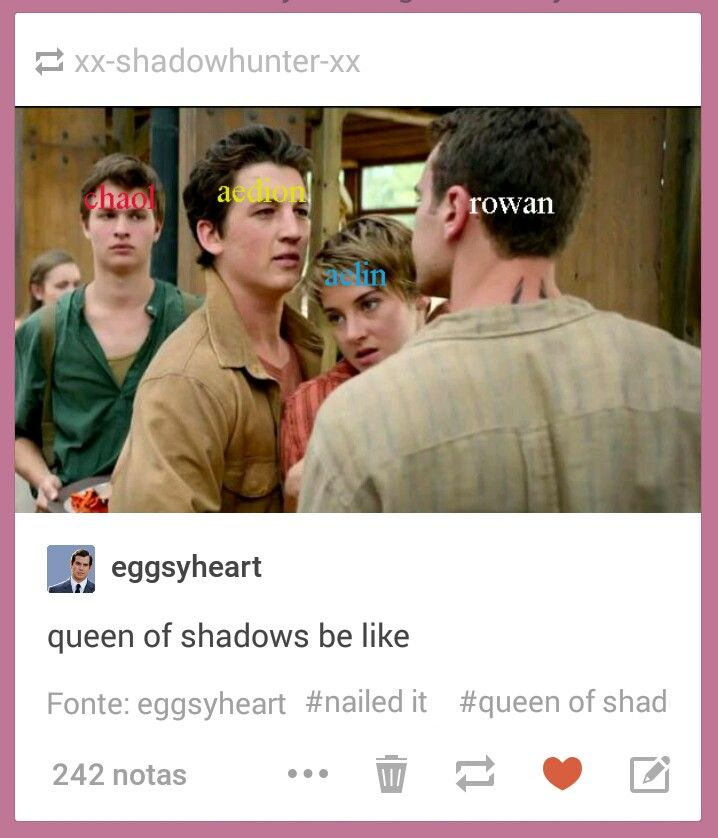 Pretty accurate. Queen of Shadows <----- even the expressions are right, omg!
