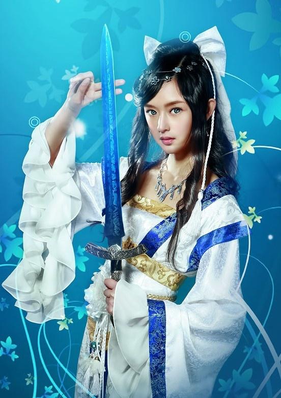 Japanese Samurai Girl Wallpaper Ancient Chinese Swordswoman Cosplay Costumes Wuxia