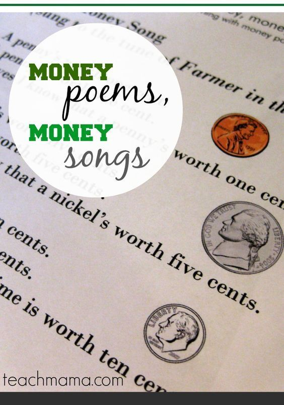 get your poem on with a few money poems and money songs!