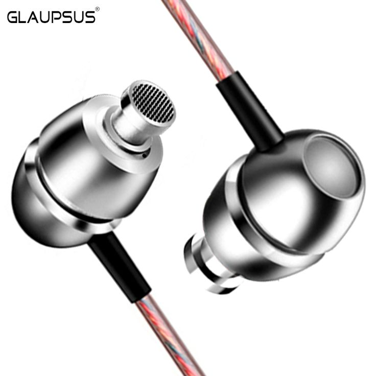 Find More Earphones & Headphones Information about Original GLAUPSUS D01 3.5mm Super Bass Microphone Earphone Dual Driver Wired In Ear hifi earphone Aluminum In Ear,High Quality headphone professional,China headphones apple Suppliers, Cheap headphones phone from GLAUPSUS store on Aliexpress.com