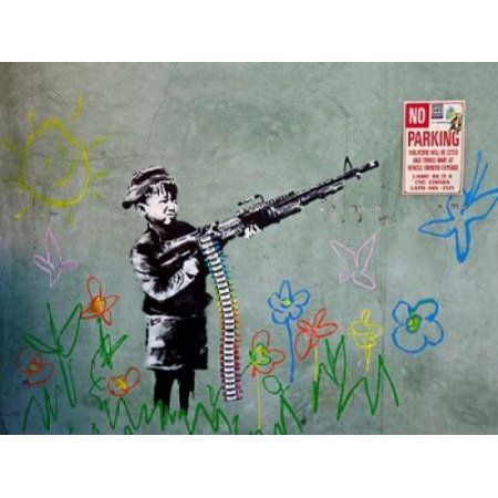Posterazzi Westwood Los Angeles-graffiti attributed to Banksy Canvas Art - Ted Soqui (22 x 28)