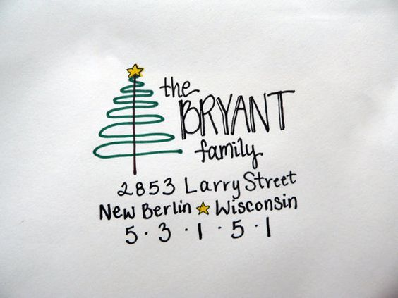 Best 25+ Envelope lettering ideas on Pinterest Letter addressing - christmas letter format