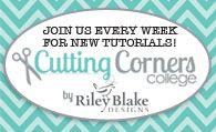Cutting Corners College from Riley Blake Fabrics-- like Moda Bake Shop, blog of quilt & sew tutorials
