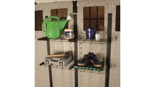 Optional shelving units fit a wide range of Suncast sheds to help you get even more organized!