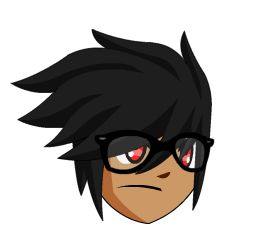 Aqw fake glasses male