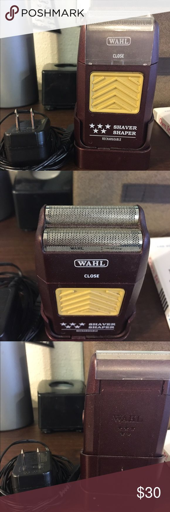Wahl 5 star face shaver / electric shaver This is a wahl professional brand shaver. It is used for face shaving or head shaving and cuts super close leaving a baby smooth result. Hair must be less than 1/8th long to get best results. Good for shaving faces as well as skin fades for guys. Used by me for about a year at my job at my barber shop . Still works great, but doesn't hold charge for as long as I need. I bought a different brand of shaver and don't have use for this one anymore. wahl…
