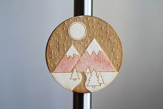 tourist magnet plywood от WorkshopLastochka на Etsy