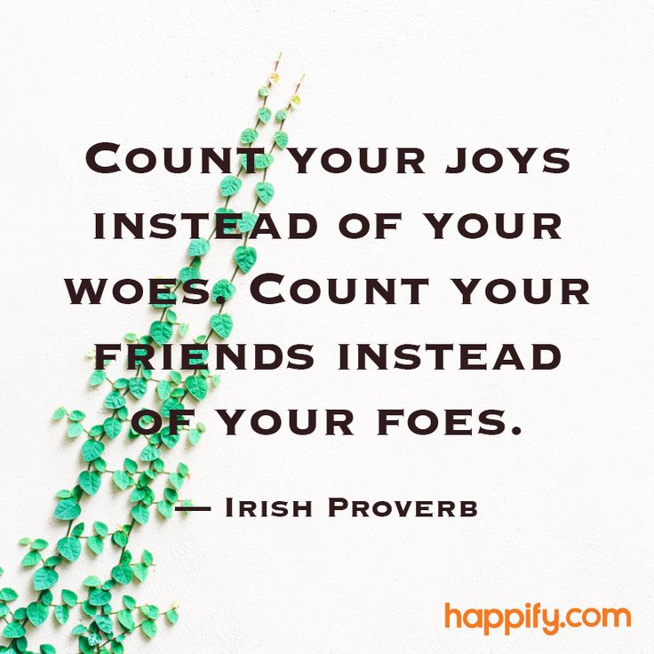 Do You Count Every Positive in Your Life? - Irish Proverb